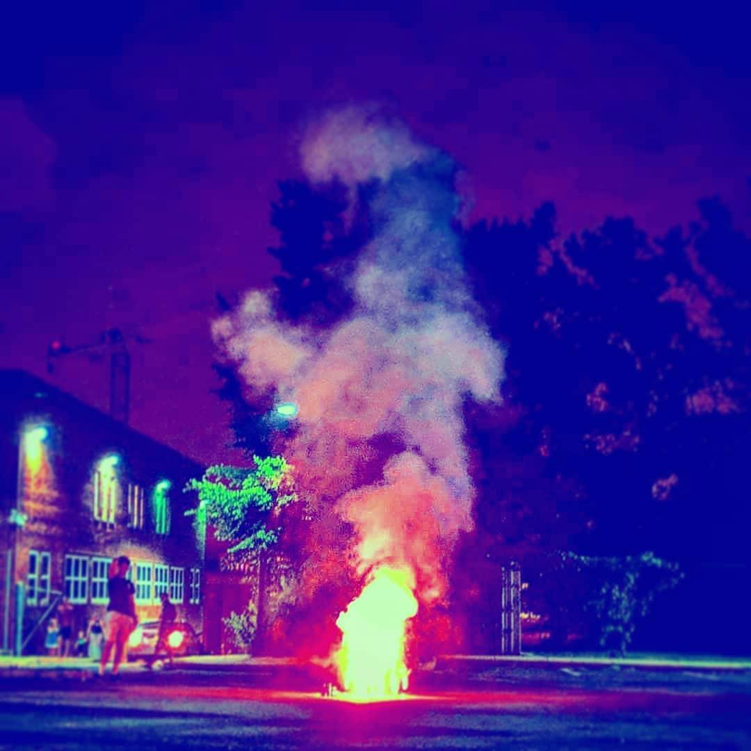 Fire Burns in Washington